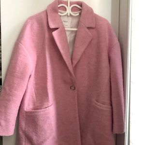 MANGO pink medium coat